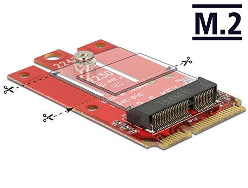 DeLock Adapter Mini PCIe > M.2 Key E Slot -