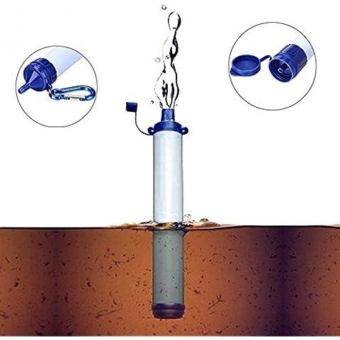 Portable del filtro purificador de agua Purificación Equipo de supervivencia para que acampa yendo de actividades al aire