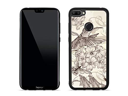 etuo Huawei Honor 9N - Hülle Aluminum Fantastic - Kolibri - Handyhülle Schutzhülle Etui Case Cover Tasche für Handy