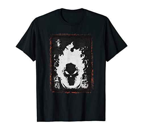 Marvel Ghost Rider Flaming Skull T-Shirt