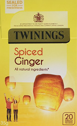 Twinings Spiced Ginger, 20 Tea Bags (Pack of 4, Total 80 Tea Bags)