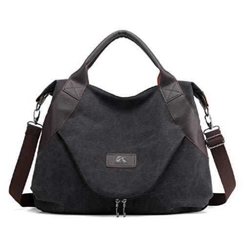RichDeer Damen Handtasche Canvas Schultertasche Umhängetasche Multi-Color-Striped Damen Shopper Tasche Hobo Bag