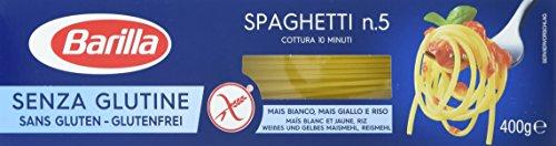 Barilla Pasta Spaghetti n. 5 glutenfrei aus Reis und Mais | 12er Pack (12x400g)
