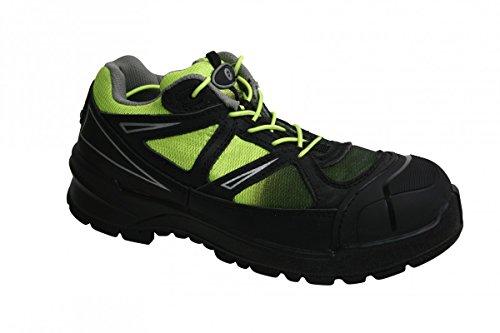 Sanita andesite Chaussures de sécurité cuir/Textile S3 noir/vert