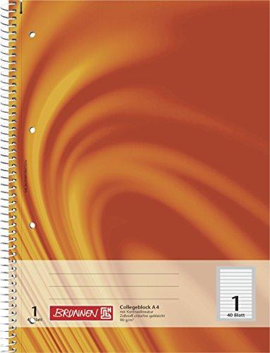 Baier & Schneider Notizblock Collegeblock Vivendi, Spiralbindung, 4fach, 90 g/qm, A4, Lineatur 1,