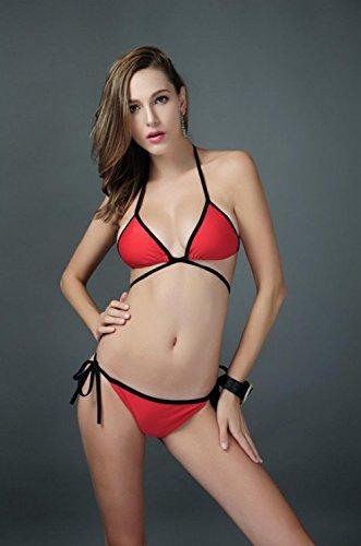 LIUYENIU Hohe Taille Badeanzüge Bikini Kleider Overall Bademode Beachwear Plus Größe verfügbar Alle codes