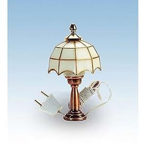 Accessoires pour maison de poupées - Eclairage : Lampe de chevet Tiffany