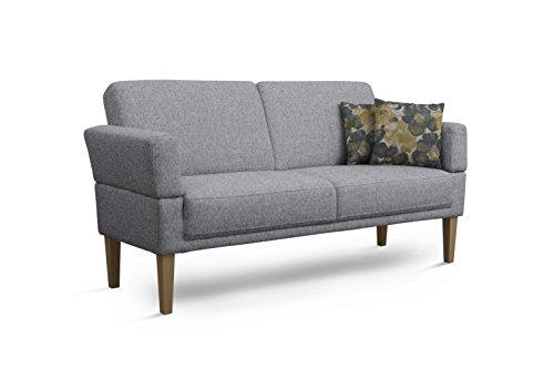 Cavadore 3er Sofa Femarn / Küchensofa für Küche, Esszimmer / Couch für Esszimmer / Maße: 190 x 98 x 81 cm (BxHxT) / Strukturstoff Mint...