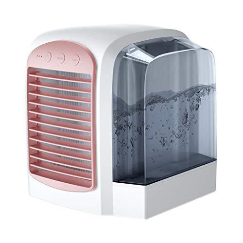 Klimaanlagenlüfter, Luftkühler, Tragbarer 4-in-1-USB-Mini-Multifunktionslüfter, Luftbefeuchter Und Luftreiniger Mit Nachtlicht, Windgeschwindigkeit Mit 3 Geschwindigkeiten, Familientisch - Schlafzimme 46-in-1 Usb