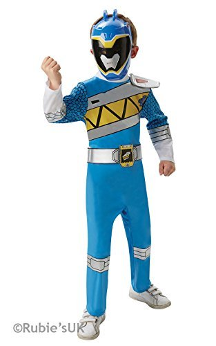 Blue Ranger - Dino Charge Power Ranger- Childrens Fancy Dress Costume - Small - 104cm - Age 3-4 by Rubies