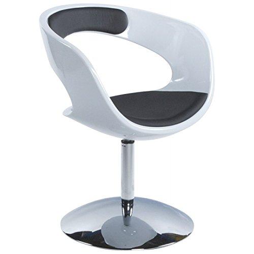 MK Fauteuil Design RHIN en ABS (polymère à Haute résistance) (Noir Blanc)