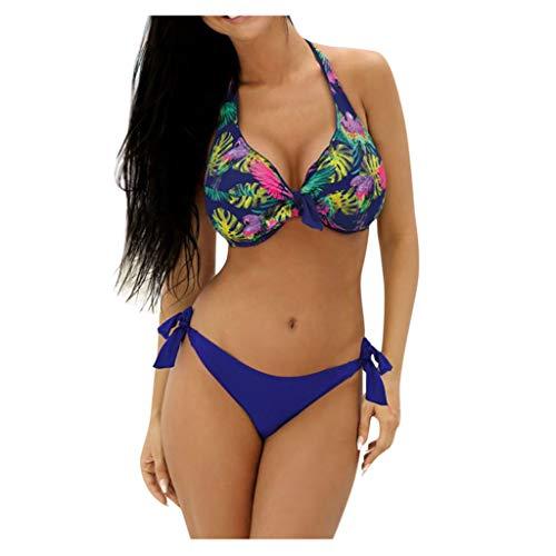 DedSecQAQ Mujer Más Talla Baños Traje Parte Superior Grande Taza con Alto Cintura Fondo Bikini Set...