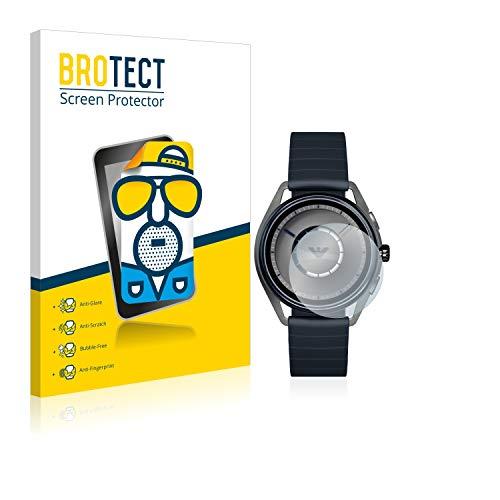 BROTECT Entspiegelungs-Schutzfolie kompatibel mit Emporio Armani Connected Smartwatch ART5009 (2 Stück) - Anti-Reflex, Matt