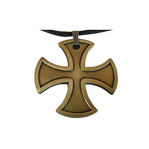 Anhänger Tempelritter–Kreuz templière–Bronze Antik (Bronze-gewebe)