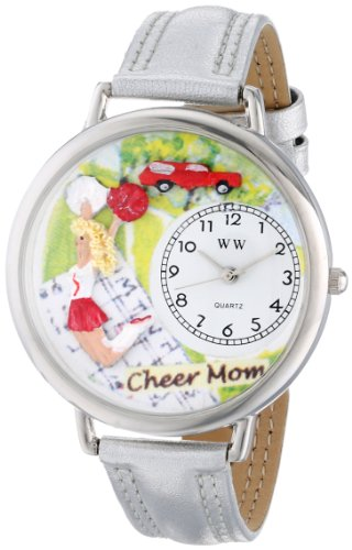 whimsical-watches-cheer-mom-gold-leather-and-silvertone-unisex-quartz-watch-with-white-dial-analogue