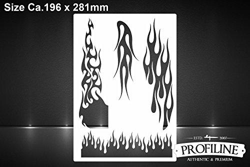 Airbrush Schablone für Hot Rod Feuer & Flammen -