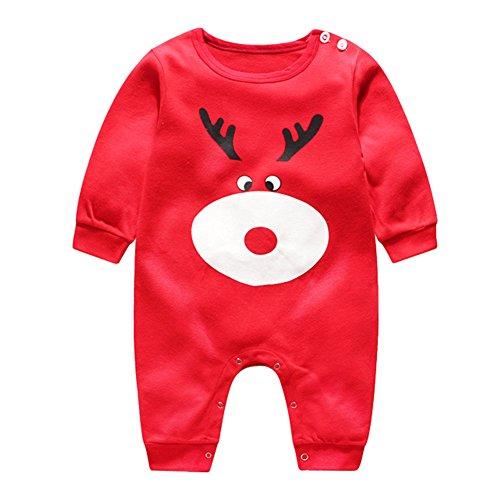Weihnachten Baby Strampler Baumwoll Overall - hibote Xams Mädchen Jungen Schlafanzug Pyjamas Unisex Kleinkind Outfits Kleidung set 3-6 Monate (Mutter Neugeborenen Halloween Kostüme)