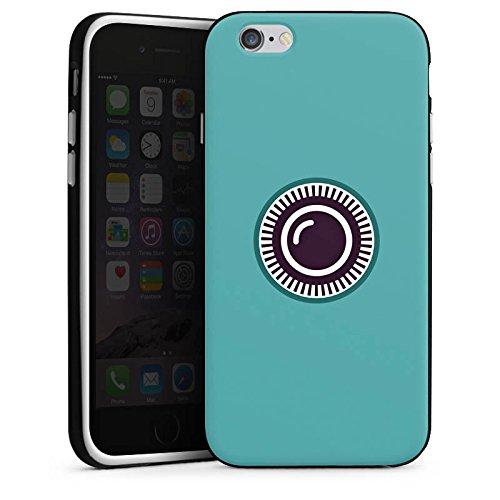 Apple iPhone X Silikon Hülle Case Schutzhülle Kamera Auge Symbol Silikon Case schwarz / weiß