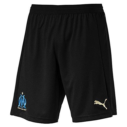 Puma Olympique de Marseille Replica Short sans Slip Intégré Homme, Noir (White/Bleu Azur), Large