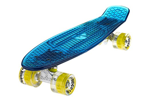 Ridge Skateboard Blaze Mini Cruiser , blau/gelb, 55 cm -