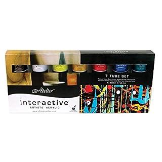 Atelier Interactive Acrylic 7 x 80ml Tube Boxed Set