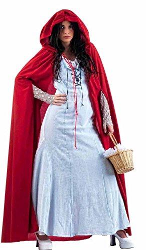 Für Erwachsenen Gothic Kostüm Märchen - Elbenwald Langes Kleid mit weitem Umhang und Kapuze, kombinierbar, Märchen Gewand, Vamp Look - M