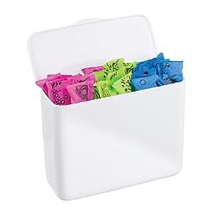 mdesign tamponbox badzubeh r ohne bohren einfach in schrankt r oder sp lkasten einh ngen. Black Bedroom Furniture Sets. Home Design Ideas