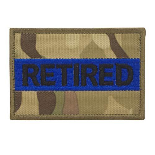 COBRA Tactical Solutions Military Patch Retired Thin Blue Line Multicam Camo mit Klettverschluss für Airsoft/Paintball für Taktische Kleidung/Rucksack