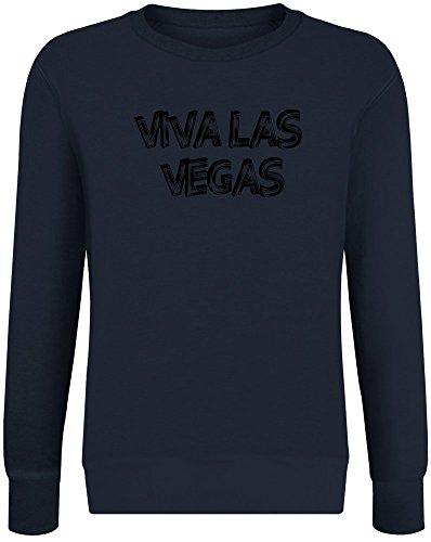 Viva Las Vegas Sweatshirt Jumper Pullover for Men & Women Soft Cotton & Polyester Blend Unisex Clothing X-Large