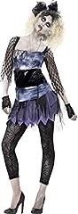 Idea Regalo - Smiffy's 44367M - Wild Child Costume Nero di Zombie 80'S Abito da Leggings Collana Arco & Guanti, M