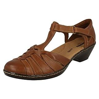 Clarks Wendy Alto Womens T-Bar Heeled Shoe 5 Tan