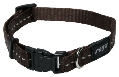 reflective-dog-collar-for-small-dogs-adjustable-from-8-13-inches-brown