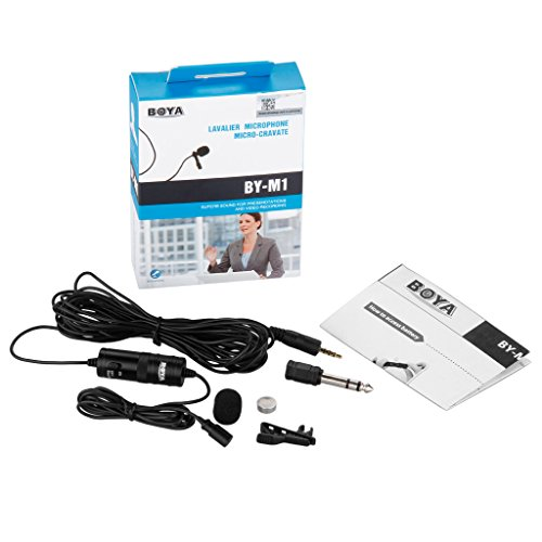 Boya Omnidirectional Lavalier Condenser Microphone With 20ft Audio Cable