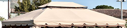 Ricambio Top Superiore per Gazebo Adventure 3x4 Ecru\' Impermeabile