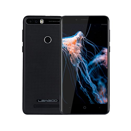 Leagoo Kiicaa Power - Movil con 4000mAh Batería(Pantalla HD IPS DE 5.0',Cámara de 8MP,RAM 2GB y ROM 16GB,Quad Core 1.3GHz y Android 7.0,Red de 3G) Color Negro