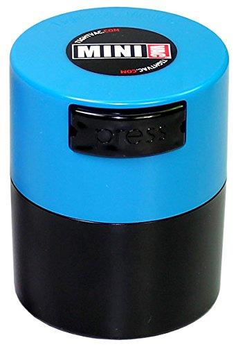 tightvac-minivac-boite-de-rangement-hermetique-pour-ingredients-secs-28-g-corps-noir-bouchon-bleu