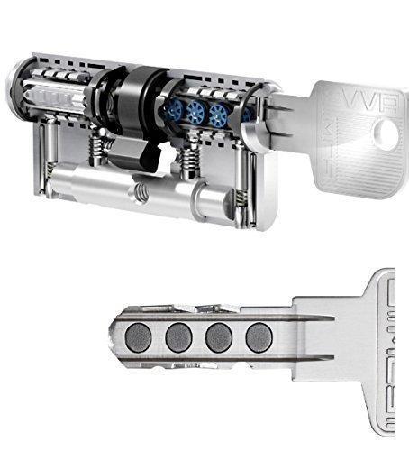 Evva MCS Hochsicherheits-Doppelzylinder mit 3Schlüssel, Länge (A/B) 31/36mm (C = 67mm)-Einzigartige Magnet-Technologie (Evva Ikon Entwicklung), Not und Gefahrenfunktion BSZ, modularer Aufbau, Bohren, Rippen und Gewinnung Schutz