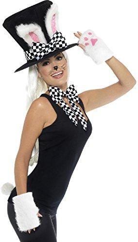 n Erwachsene März-Hase Teeparty Alice im Wunderland Hatter Welttag des buches-Tage-Woche Karneval Spaß Kostüm Kleid Outfit Zubehör Set (Hase Aus Alice Wunderland Kostüme)