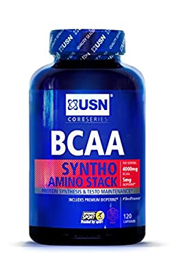 USN BCAA Syntho Stack Essential Amino Acid Stack Capsules - Tub of 120 from USN
