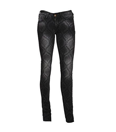 CIMARRON Damen Jeans Hose Regular Fit gerades Bein - schwarz 001black 29