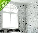 REAGONE Die Tapete Self Adhesive Schlafzimmer warm und wasserdicht Wohnzimmer-Wand Close Quarters Idylle Fragile-Blumen-Wand-Papier-Wand-Aufkleber-Rollenaufkleber Tapete, Eisen Blumen, Large769549