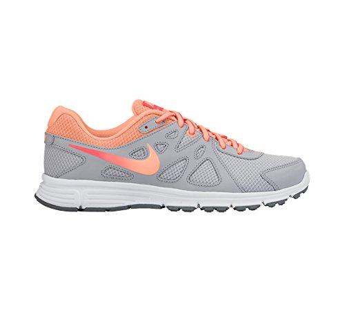 Nike Revolution 2 GS Calzatura Wolf Grey/Hot Lava/White/Sunset Glow