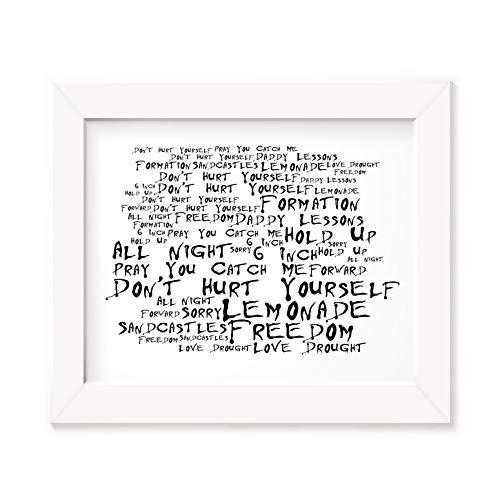 LISSOME Art Studio Beyonce Kunstdruck Poster - Lemonade - Ungerahmt Kunst Druck Lyrisch Plakat