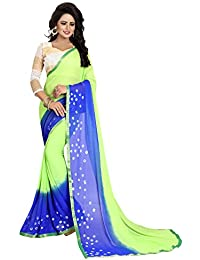 Refof Export Green Chiffon Saree And Casual Wear And Work Wear Printed Saree