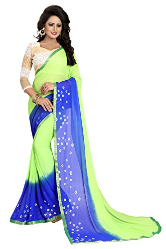 Kanchan Chiffon Saree For Women & Girls Ideal For Parties & Functions(KTGREEN...