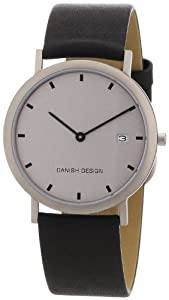 Reloj de caballero Danish Design 3316113 de cuarzo, correa de piel color negro de Danish Design