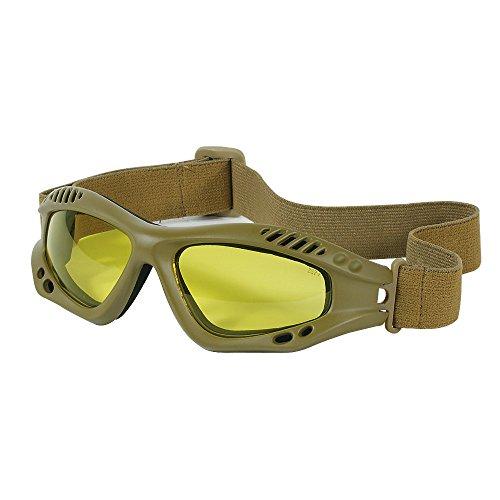 Voodoo Tactical Men's Sportac Goggle Glasses, Coyote Frame