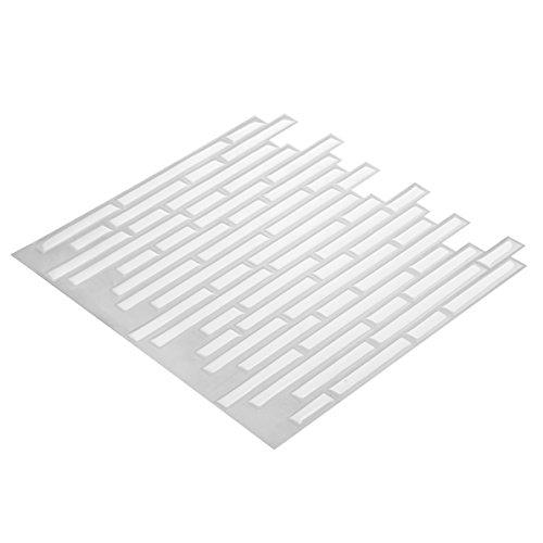 Wall Crafts® 3D Mosaik Fliesensticker selbstklebend 5 Stück für Küche Bad, Vinyl Fliesenfolie schwarz weiss grau Wandtattoo, 30,5 x 30,5cm Fliesen Aufkleber Folie Sticker Wanddeko