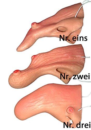 KARNEVALS-GIGANT Hexen-Nasen hautfarben | Einheitsgröße | Latex Nasen für Hexenkostüm im Karneval und Fasching (Nr.1)