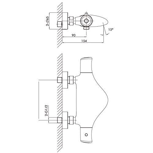 Zoom IMG-1 amzdeal rubinetto termostatico per doccia